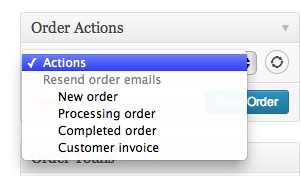 Order Actions to Resend Customer Order Emails
