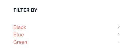 WooCommerce Layered Nav Widget