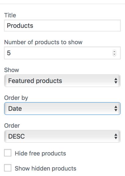 WooCommerce Products Widget