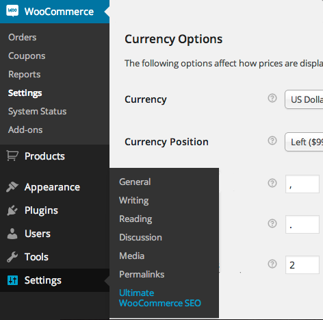 Look how lost and out of place I look, being so far away from the other WooCommerce admin screens.