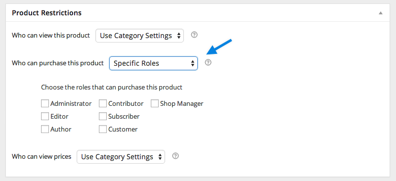 Catalog Visibility Product Settings