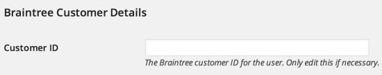 WooCommerce Braintree customer details