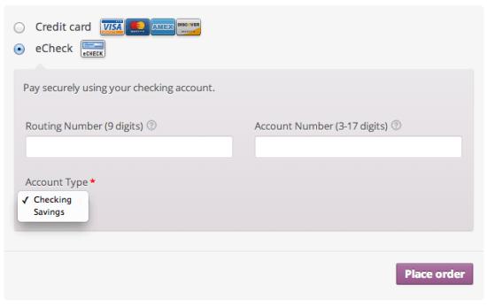 WooCommerce Authorize.net AIM Payment Gateway Integration eCheck Checkout Experience