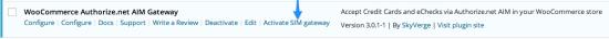 WooCommerce Authorize.net AIM Payment Gateway integration   Enable Authorize.net SIM