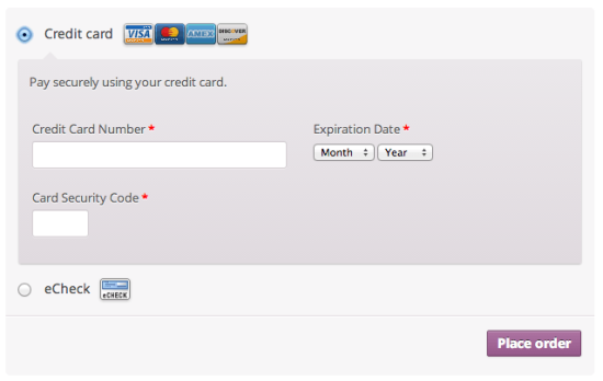 WooCommerce Authorize.net AIM Payment Gateway Integration Checkout Experience