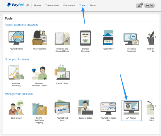 WooCommerce PayPal Express Obtain PayPal API Credentials
