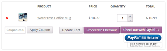 PayPal Express WooCommerce Style Button