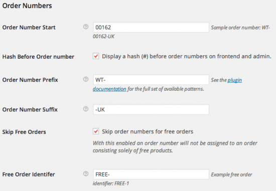 WooCommerce Sequential Order Numbers Pro Admin Settings