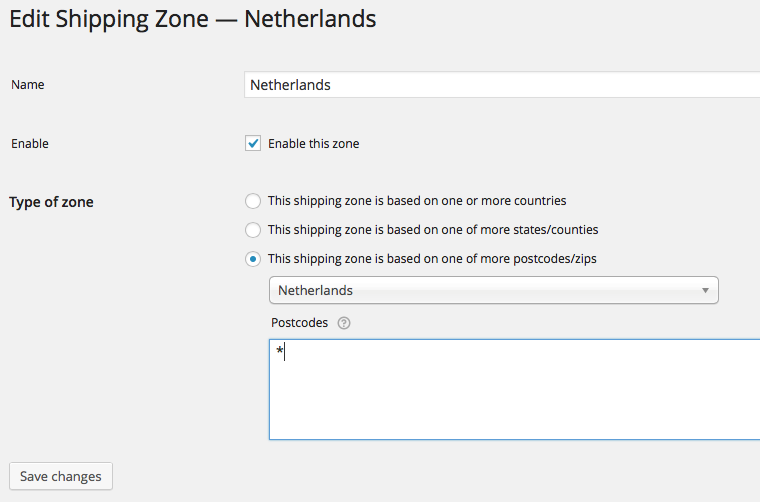 Edit Table Rate Shipping Zone 2