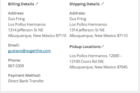 WooCommerce Shipping Local Pickup Plus Location in Order