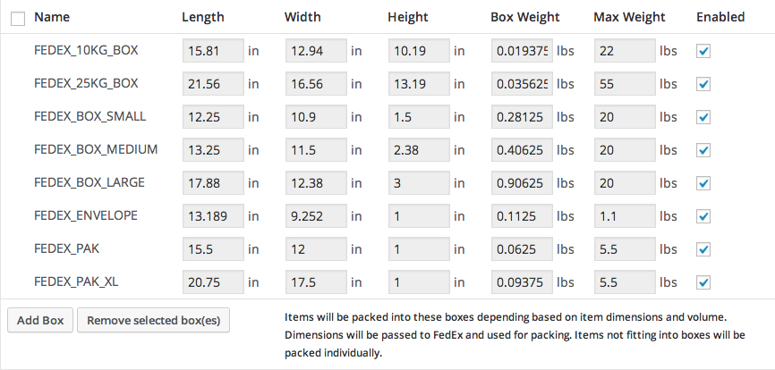 Fedex Box Prices >> FedEx Shipping – WooThemes Documentation