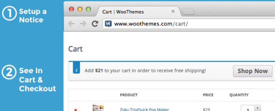 woocommerce cart notices woobeast demo