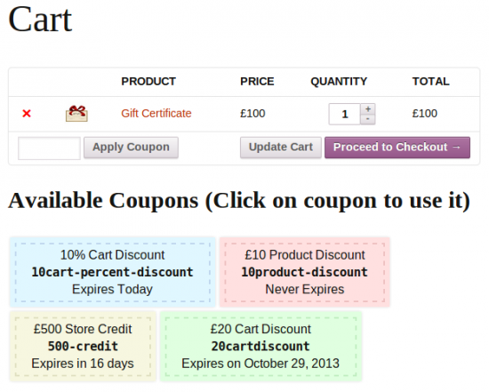 Display style of coupons