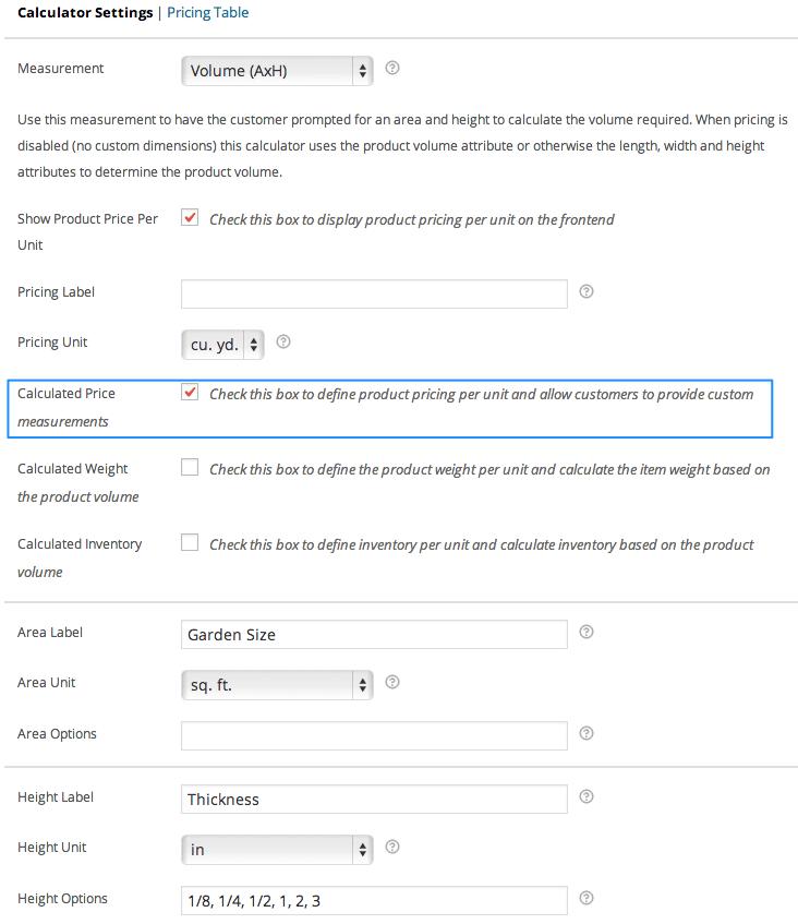 """Custom Woocommerce Measure Price Calculator"