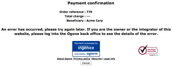 WooCommerce Ogone Error notice 1