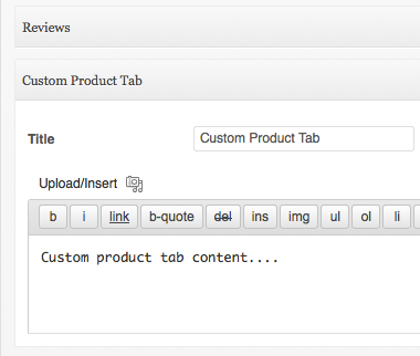 Reorder and Create Custom Tabs