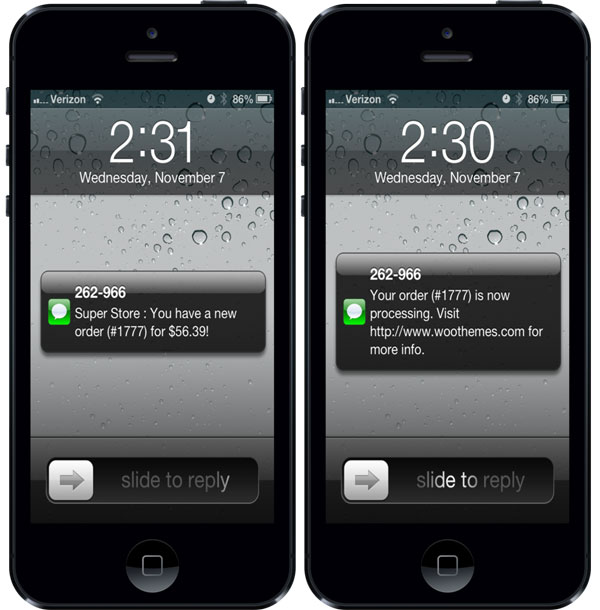 Twilio Sms Notifications Woothemes