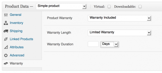 Limited warranty options