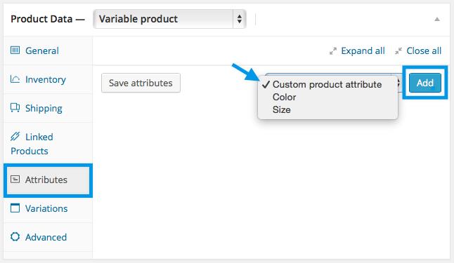 Adding Custom Attributes to WooCommerce
