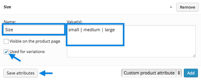 WooCommerce Product Attributes Tab