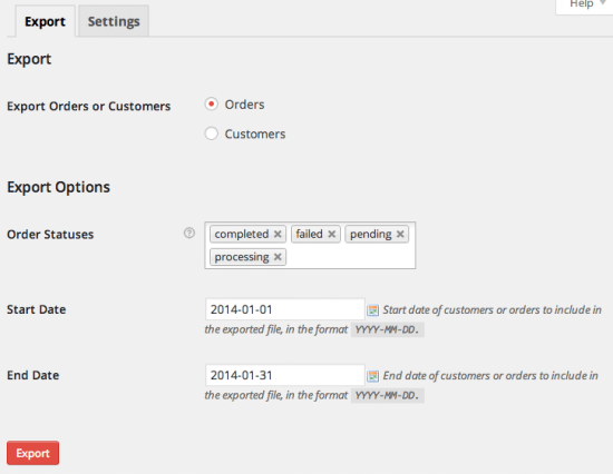 WooCommerce Customer / Order XML Export Suite Bulk Export Tool