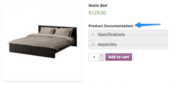 WooCommerce Product Documents Frontend Example