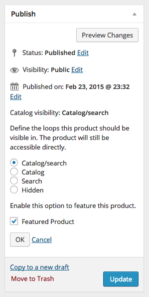WooCommerce Product Visibility Options