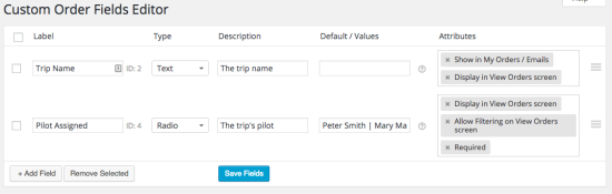 WooCommerce Admin Custom Order fields Examples of Types, Values, and Attributes