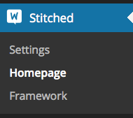 Homepage Control settings