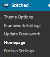 Homepage Control settings
