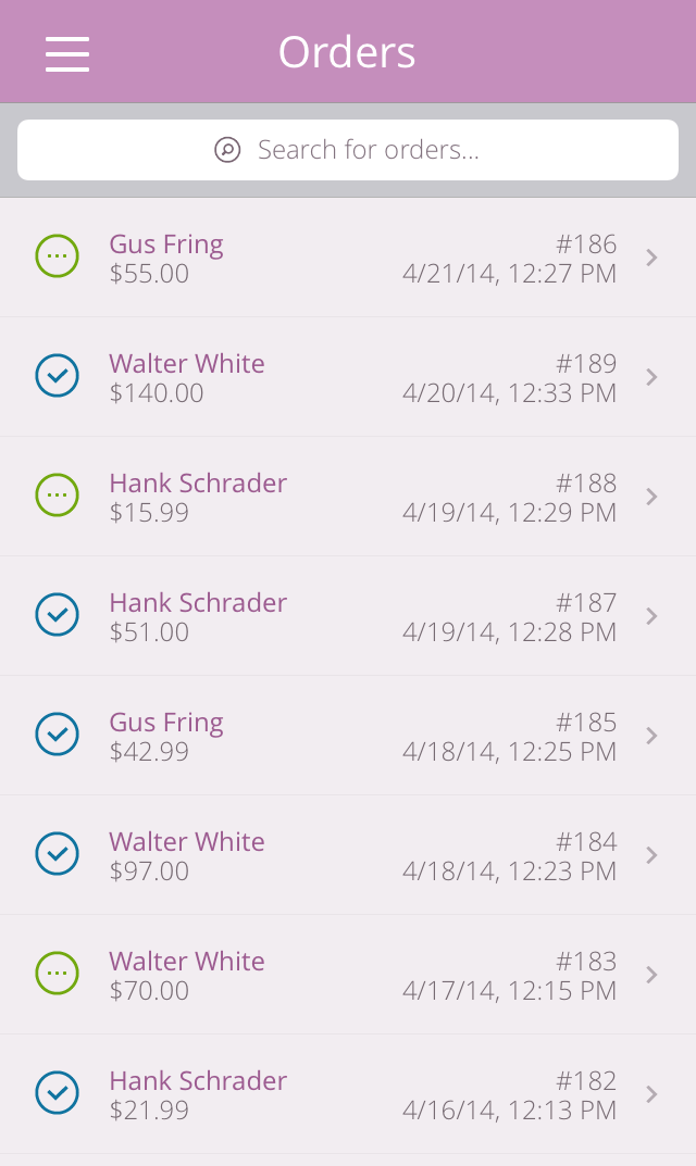 WooCommerce iOS App Orders view