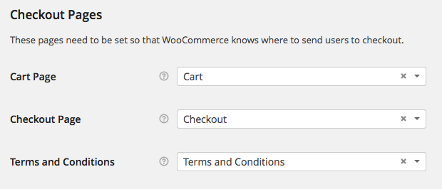 WooCommerce > Checkout > Checkout Pages