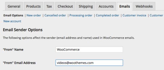 WooCommerce > Emails > Email Options
