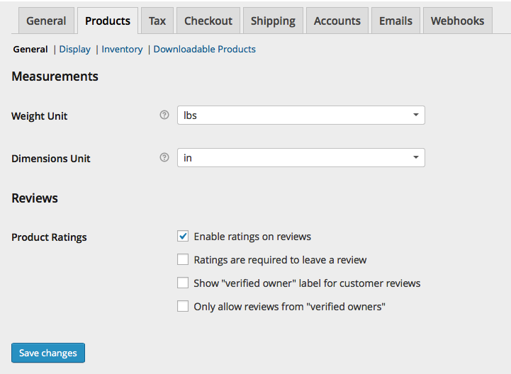WooCommerce Products > General