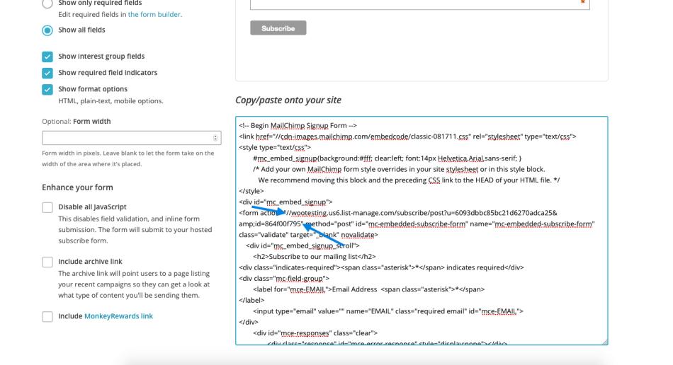 mailchimp-subscribe-list-url