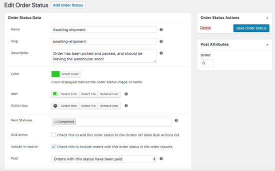 WooCommerce Order Status Manager: New Status