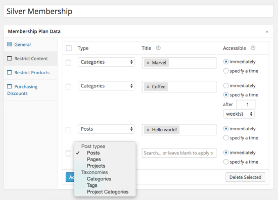 WooCommerce Memberships content restriction